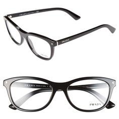 459c24f03fd Women s Prada 53mm Optical Glasses (1.030 BRL) ❤ liked on Polyvore  featuring accessories