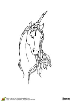 coloriage licorne coloriage unicorn pinterest unicorns