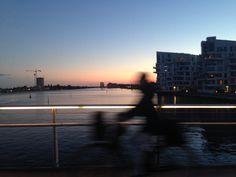 Denmark, bridge,son set