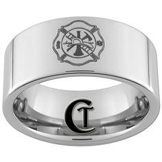 Tungsten Carbide Fireman Laser Design Ring | Shared by LION