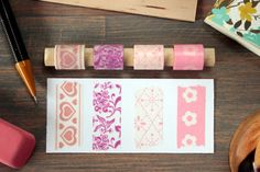 Be My Valentine Washi Tape Sampler - Pinks and purples, the perfect way to jazz up your planner!