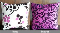 Cojín Flores Morado y Negro Solo en Domi Design Todo lo que necesitas en Muebles y accesorios de Diseño para tu hogar