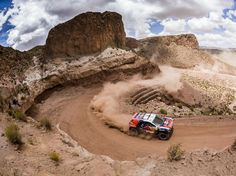 Cyril Despres in a Peugeot 2008 DKR at 2015 Dakar Rally