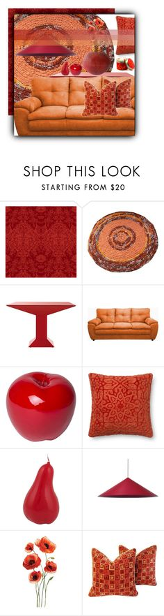 """We Clean Up Good: Spring Cleaning In Red & Orange 😀"" by ragnh-mjos ❤ liked on Polyvore featuring interior, interiors, interior design, home, home decor, interior decorating, Timorous Beasties, Bitossi, Wästberg and Lily-Flame"