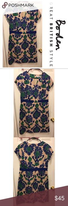 Boden Short Sleeve Green and Blue Patterned Dress Boden Short Sleeve Green and Blue Patterned Dress is brand new and has never been worn! Beautiful patterned dress is perfect for any occasion! Great quality material is flattering and comfortable. Size 12R Boden Dresses