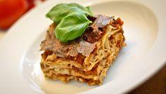 Vegane Lasagne mit Sojagranulat