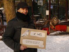 Dankzij jullie aankopen van buttons en/of t-shirts, heeft Tettenvogel met de glimlach 450 euro overhandigd aan Opvangcentrum voor Vogels en Wilde dieren Merelbeke vzw. Tiet!