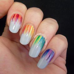 Rainbow nails For more fashion and wedding inspiration visit www.findiforweddings.com Nail Art