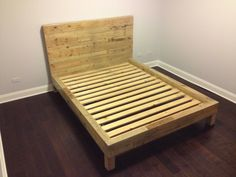 reclaimed shipping pallet bed frame (queen)