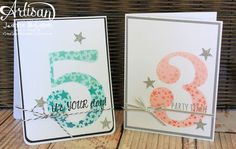 Sweet Birthday Cards, Jeanna Bohanon, July 2013 Stampin' Up! Sympathy Cards, Greeting Cards, Paper Pop, Numbers For Kids, Old Cards, Little Girl Birthday, Handmade Birthday Cards, Creative Cards, Scrapbook Cards