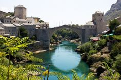 Mostar's Bridge and Old Town