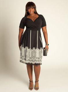 Plus Size Tallulah Dress in Black/White