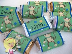 monkey candy wrappers for minis