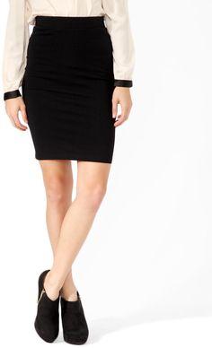 #Forever21                #Skirt                    #Basic #Knee #Length #Skirt                         Basic Knee Length Skirt                             http://www.seapai.com/product.aspx?PID=104968