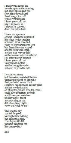 Unappreciated love poems