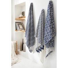 TODAY Fouta CYCLADES 100x190 100% coton Bleu et blanc - Achat / Vente serviette de plage - Cdiscount