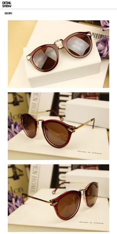Free Shipping 2013 Brand Designer Vintage Trend Sunglasses For Women Men Round Retro Sun Glasses Sports Bike Oculos De Sol-in Sunglasses fro...