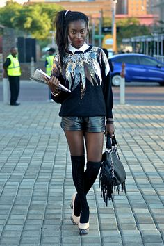 Street Style At 2013 Mercedes-Benz Fashion Week Joburg