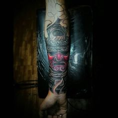 There's no greater honor of being an artist than when someone tattoos your work on their body. @bootsbrandon is interpreting my entire Warrior's Dream Samurai series into a full arm sleeve for this customer. Looks amazing so far, please be sure to give him a follow to see his other work and to view the whole process. #tattoo #samurai #art
