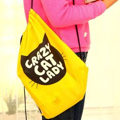 Alipower 2015 горячий новый водонепроницаемый мультфильм / кошка авоську шнурок рюкзак дорожная сумка полиэстер бесплатная доставка и оптовая продажа, принадлежащий категории Сумки для хранения и относящийся к Для дома и сада на сайте AliExpress.com   Alibaba Group