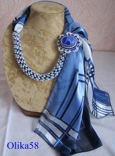 Мой жгутик с шарфиком и брошью