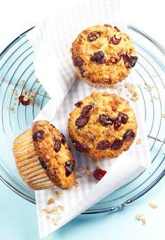 Muffin ai mirtilli e muesli