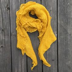 "New Yellow Mustard Long Knit Scarf Super warm and soft Mustard Yellow Scarf.  Very light weight, but warm and stylish at the same time.  Measurements:  Length:  approximately 104"" Width: 13"" Alpha Shop Box Accessories Scarves & Wraps"