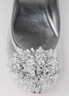 9bb05ad31dde cute silver flats -  20 (bridesmaid shoes.) for all the dancing after the.  Mob DressesBridal ...