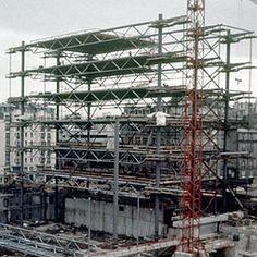Vue du chantier après le montage de deux travées.