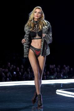 The Victoria's Secret x Balmain Collaboration Just Debuted on the Runway and It's Pure Gold - HarpersBAZAAR.com