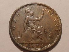 1874 Victoria penny Coins, Buy And Sell, Victoria, Personalized Items, Stuff To Buy, Coining, Victoria Falls