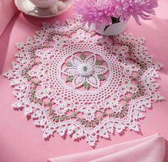 Nice design # white # green # Facebook . Com / Crochet world magazine