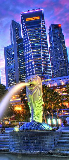 The Merlion, Singapore.