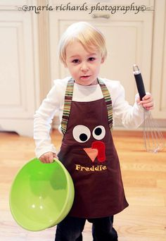 Silly Turkey Childs Thanksgiving Apron for Boys or Girls. $18.00, via Etsy.