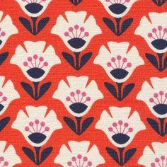 Garden Variety in Orange | Oak Fabrics