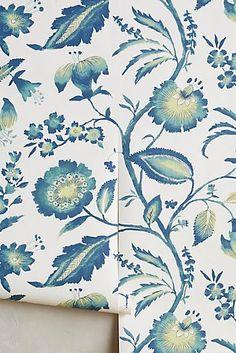 Jacobean Floral Wallpaper Anthropologie
