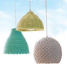 Need these for my new craft room! IKEA Hackers: Crochet Seashell Lamps