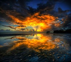 Let there be light ~ Nudgee Beach, Brisbane, Queensland, Australia