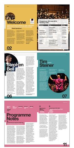 Orchestras Live event guide for Royal Philharmonic Orchestra performance. Created by Norwich based graphic design agency http://www.creativegiant.co.uk