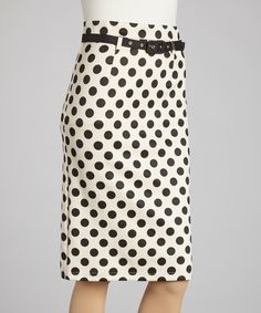 Black & White Polka Dot Pencil Skirt   Daily deals for moms, babies and kids