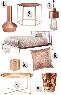 Copper in the home.Find the best decor trends for 2015: leather, feather, dots, stripes, metals, modern, strong colors? See more decorating ideas and inspirations here: www.delightfull.eu