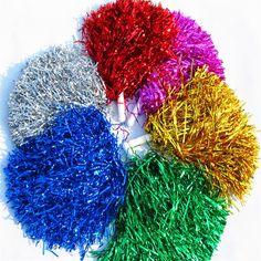 10 pcs/lot 50g 100g Cheerleading Pom Poms Pom-Pom Girls Main Fleurs à la main En Plastique bâton PVC Main Fleurs Pompons fournitures