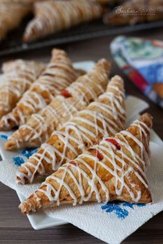 Strawberry Rhubarb Puff Pastry Turnover Recipe | Barbara Bakes