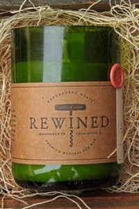 Rewined Candles: Candles made from recycled wine bottles that smell like wine!