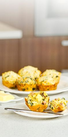 Corn Spinach & Bacon Muffins