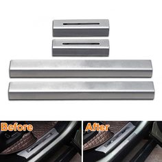 best price bbqfuka car styling stainless side doorsill scuff plate thresholds pad welcome pedal #steel #entry #doors