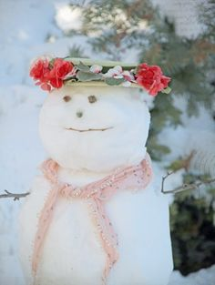 *Snowlady with her spring hat