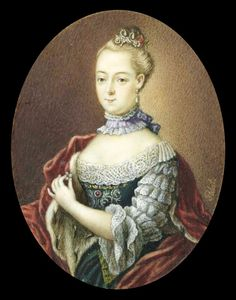 Friederike Carolina, Margravine of Brandenburg (Princess of Saxe-Coburg-Saalfed at birth). Ivory miniature, anonymous, 1755-99, Rijksmuseum