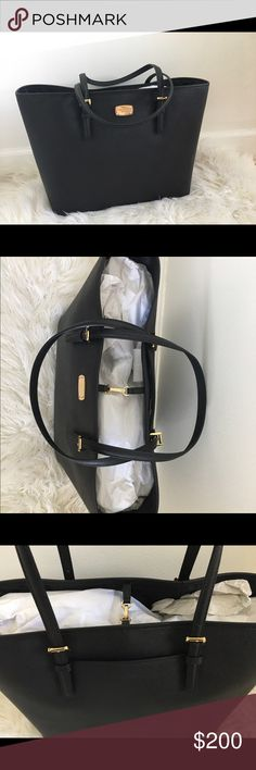 Michael kors black jet set travel tote Mk black saffiano Large tote brand new ! Michael Kors Bags Totes