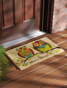 Rubber Owl Doormat | Kirkland's HOO HOO I love owls #kirklands #pinitpretty #owls